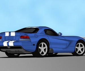 Dodge Viper Illustration